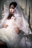 Retrato del vintage de una morenita hermosa Fotografía de archivo