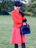 Retrato del vintage de una mujer atractiva pasada de moda Imagen de archivo libre de regalías