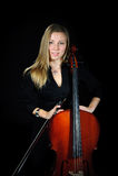 Retrato del violoncelista joven Imagen de archivo libre de regalías