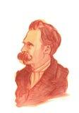 Retrato del Watercolour de Friedrich Nietzsche Imagenes de archivo
