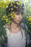 Retrato delicado de uma menina foto de stock royalty free