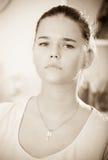 Retrato deprimido de la muchacha Imagenes de archivo