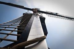 Retrato detalhado do moinho de vento holandês Foto de Stock Royalty Free