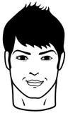 Retrato dianteiro do close up de um homem novo Imagens de Stock Royalty Free