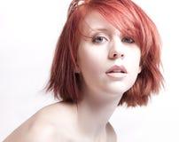 Mujer del Redhead Imagenes de archivo