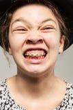 Retrato divertido de la muchacha Imágenes de archivo libres de regalías