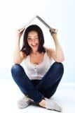 Retrato divertido de la mujer imagen de archivo libre de regalías