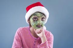 Retrato divertido de la Navidad. Imagenes de archivo