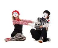 Retrato divertido de mimes Fotos de archivo