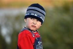 Retrato divertido de un muchacho Imagen de archivo libre de regalías