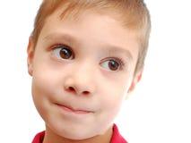 Retrato divertido del niño Imagen de archivo libre de regalías