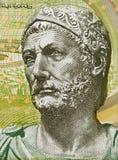 """Retrato do †""""181 de Hannibal 247 BC em Tunísia 5 dinares 2013 vagabundos Imagem de Stock"""