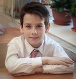 Retrato do aluno masculino da escola primária Fotos de Stock Royalty Free