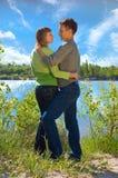 Retrato do amor na natureza imagem de stock royalty free