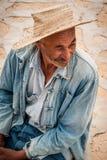 Retrato do ancião em Tunísia Imagem de Stock
