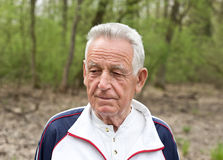Retrato do ancião Foto de Stock Royalty Free