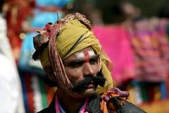 Retrato do artista hindu - festival pongal Imagens de Stock