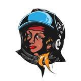 Retrato do astronauta da mulher Imagens de Stock Royalty Free