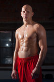 Retrato do atleta do russo Imagem de Stock Royalty Free