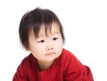 Retrato do bebé asiático fotografia de stock
