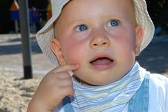 Retrato do bebê fotografia de stock