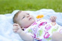 Retrato do bebê de dois meses Foto de Stock Royalty Free