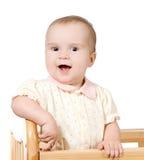 Retrato do bebê de riso feliz Foto de Stock Royalty Free