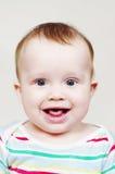 Retrato do bebê de sorriso agradável Fotografia de Stock