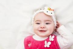 Retrato do bebê do bebê de cinco meses da criança pequena Imagens de Stock