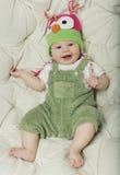 Retrato do bebê feliz bonito do bebê de cinco meses Fotografia de Stock Royalty Free