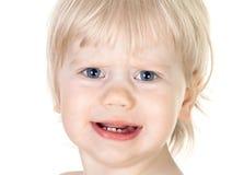 Retrato do bebê insatisfeito Foto de Stock