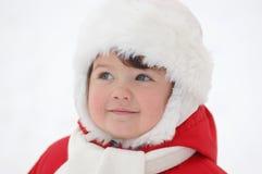 Retrato do bebê no tempo de inverno imagens de stock royalty free
