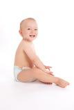 Retrato do bebê pequeno feliz Foto de Stock