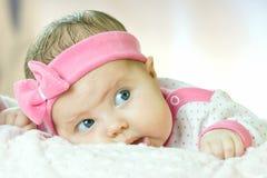 Retrato do bebê pequeno muito doce Imagem de Stock