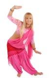 Retrato do blonde da dança fotografia de stock