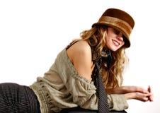 Retrato do blonde novo Fotos de Stock Royalty Free