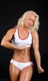 Retrato do bodybuilder 'sexy' Imagens de Stock Royalty Free