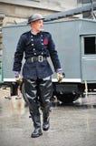 Retrato do bombeiro do vintage Imagens de Stock Royalty Free