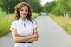 Retrato do brunette bonito fotografia de stock royalty free