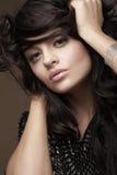 Retrato do brunette bonito Imagem de Stock Royalty Free