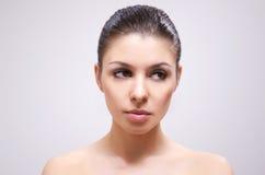 Brunette despido bonito. Retrato. Foto de Stock