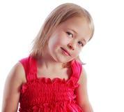 Retrato do busto de uma menina bonita Fotos de Stock Royalty Free