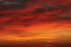 Retrato do céu nebuloso Fotografia de Stock