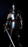 Retrato do cavaleiro na armadura pesada imagens de stock royalty free