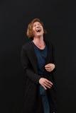 Retrato do close up alto de rir o homem caucasiano imagem de stock royalty free
