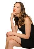 Retrato do close up bonito da mulher imagem de stock