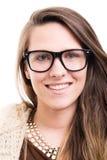 Retrato do close up da fêmea bonita do moderno fotos de stock royalty free