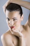 Retrato do close up da face da mulher bonita Imagem de Stock Royalty Free