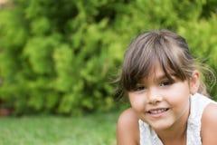 Retrato do close up da menina bonita fotografia de stock