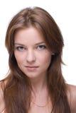 Retrato do close up da menina com composição desobstruída Foto de Stock Royalty Free